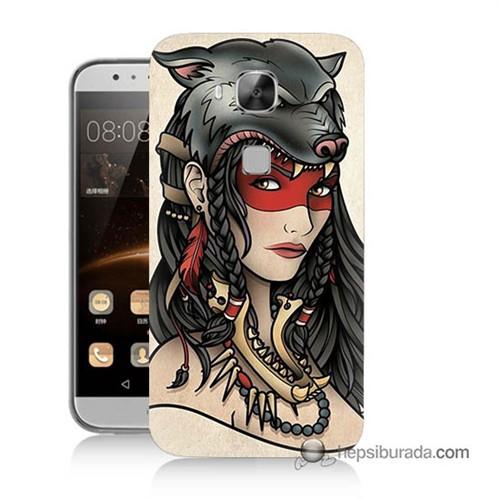Teknomeg Huawei Ascend G8 Kapak Kılıf Pocahontas Baskılı Silikon