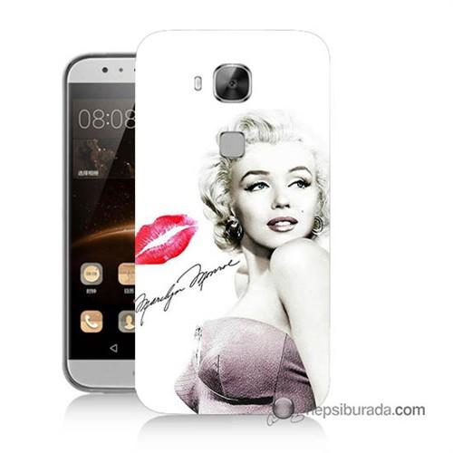 Teknomeg Huawei Ascend G8 Kapak Kılıf Marilyn Monroe Baskılı Silikon