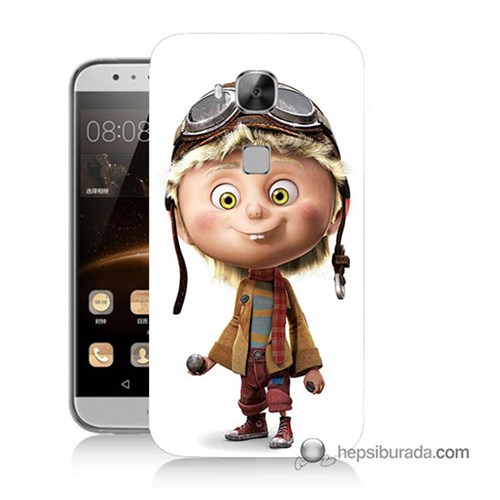 Teknomeg Huawei Ascend G8 Kılıf Kapak Çizgi Karakter Baskılı Silikon