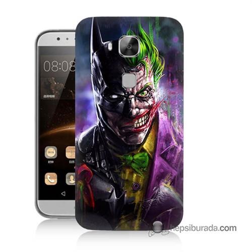 Teknomeg Huawei Ascend G8 Kılıf Kapak Batman Vs Joker Baskılı Silikon
