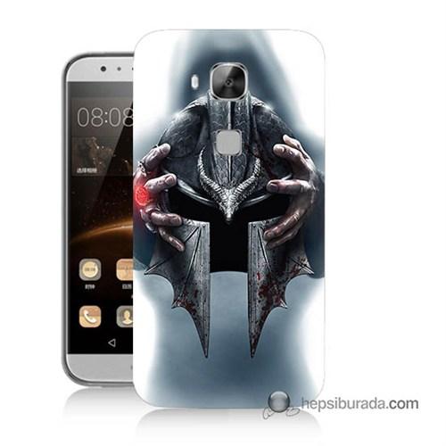 Teknomeg Huawei Ascend G8 Kılıf Kapak Assassins Creed Baskılı Silikon