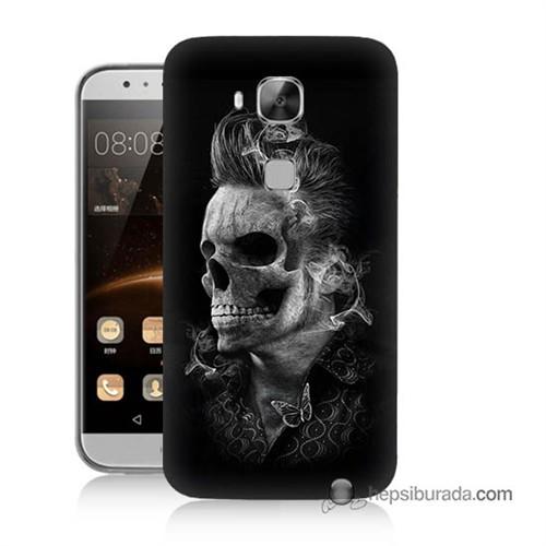Teknomeg Huawei Ascend G8 Kapak Kılıf Elvis Presley Efsanesi Baskılı Silikon