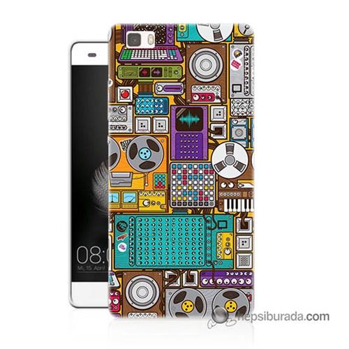 Teknomeg Huawei Ascend P8 Lite Kılıf Kapak Teknoloji Baskılı Silikon