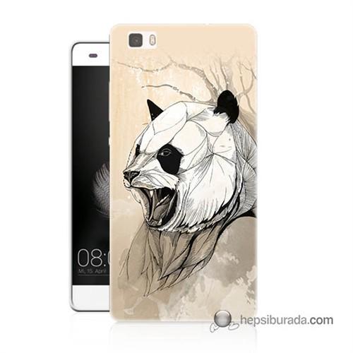 Teknomeg Huawei Ascend P8 Lite Kapak Kılıf Kavgacı Panda Baskılı Silikon