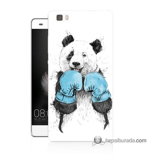 Teknomeg Huawei Ascend P8 Lite Kılıf Kapak Boksör Panda Baskılı Silikon