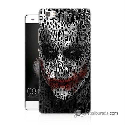 Teknomeg Huawei Ascend P8 Lite Kapak Kılıf Joker Baskılı Silikon
