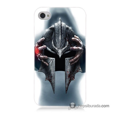 Teknomeg İphone 4 Kılıf Kapak Assassins Creed Baskılı Silikon