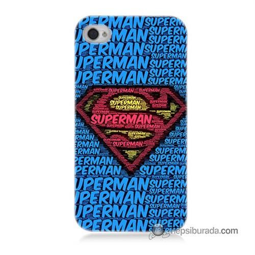 Teknomeg İphone 4S Kapak Kılıf Süpermen Baskılı Silikon