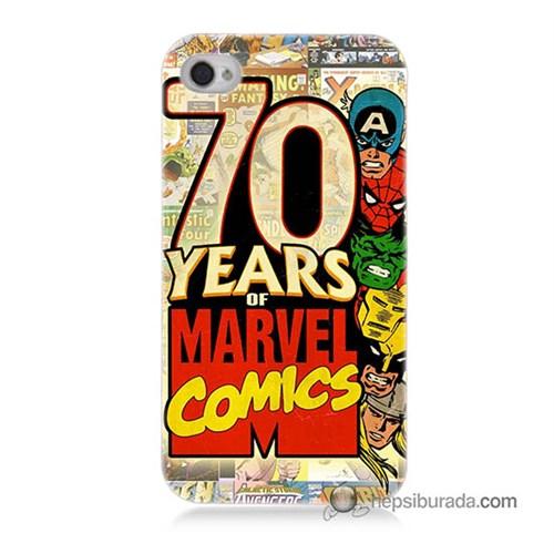 Teknomeg İphone 4S Kılıf Kapak Marvel Karakterleri Baskılı Silikon