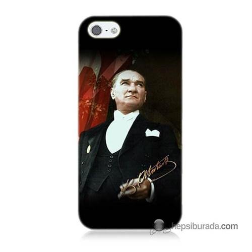 Teknomeg İphone 5 Kapak Kılıf M.K.Atatürk Baskılı Silikon