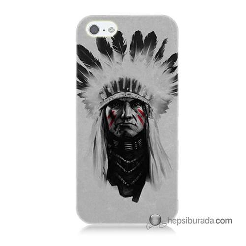 Teknomeg İphone 5 Kılıf Kapak Geronimo Baskılı Silikon