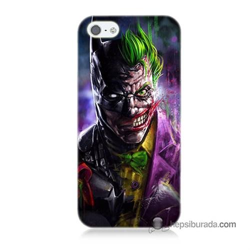 Teknomeg İphone 5 Kılıf Kapak Batman Vs Joker Baskılı Silikon