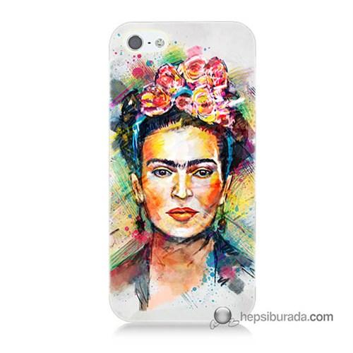 Teknomeg İphone 5S Kapak Kılıf Frida Baskılı Silikon