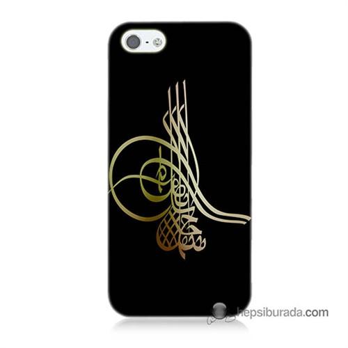 Teknomeg İphone 5S Kılıf Kapak Tuğra Osmanlı Baskılı Silikon