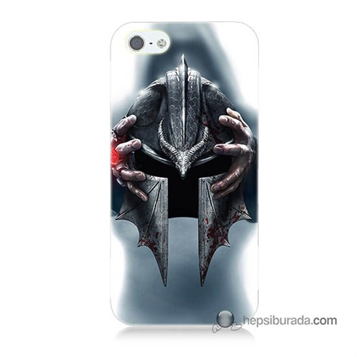Teknomeg İphone 5S Kılıf Kapak Assassins Creed Baskılı Silikon