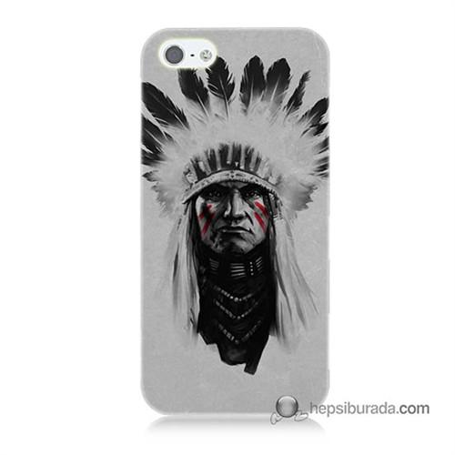 Teknomeg İphone 5S Kılıf Kapak Geronimo Baskılı Silikon