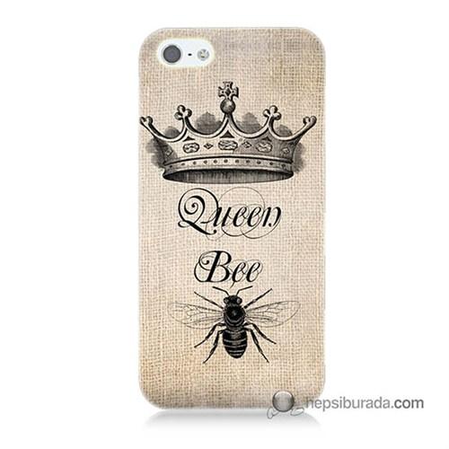 Teknomeg İphone Se Kılıf Kapak Queen Bee Baskılı Silikon