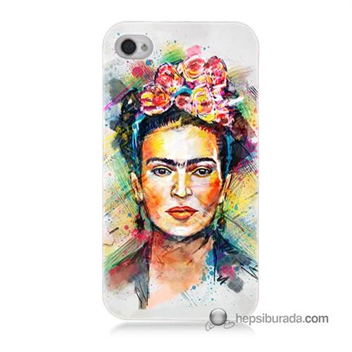 Teknomeg İphone 4S Kapak Kılıf Frida Baskılı Silikon