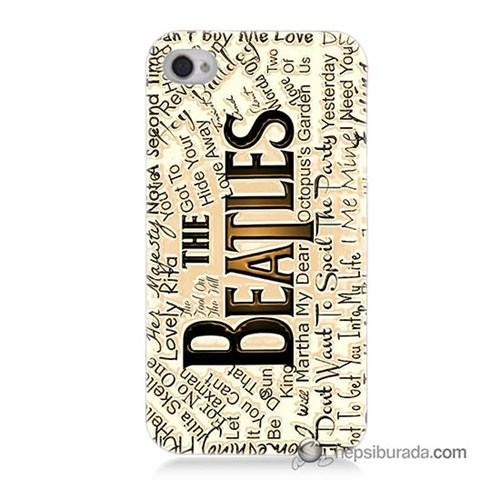 Teknomeg İphone 4S Kılıf Kapak The Beatles Baskılı Silikon