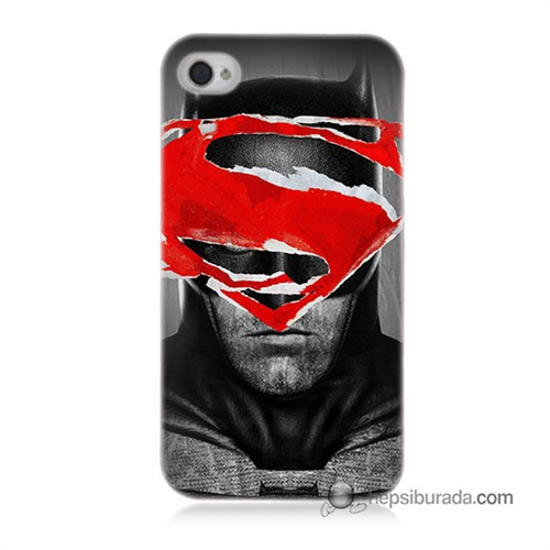 Teknomeg İphone 4 Kapak Kılıf Batman Vs Superman Baskılı Silikon