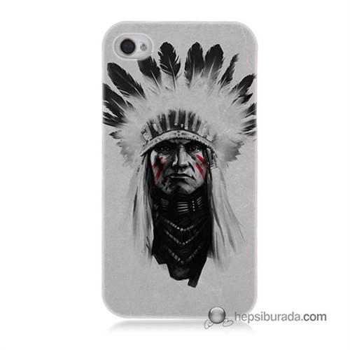Teknomeg İphone 4 Kılıf Kapak Geronimo Baskılı Silikon