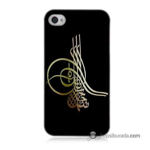 Teknomeg İphone 4 Kılıf Kapak Tuğra Osmanlı Baskılı Silikon