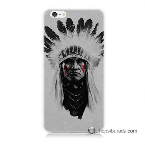 Teknomeg İphone 6 Kılıf Kapak Geronimo Baskılı Silikon