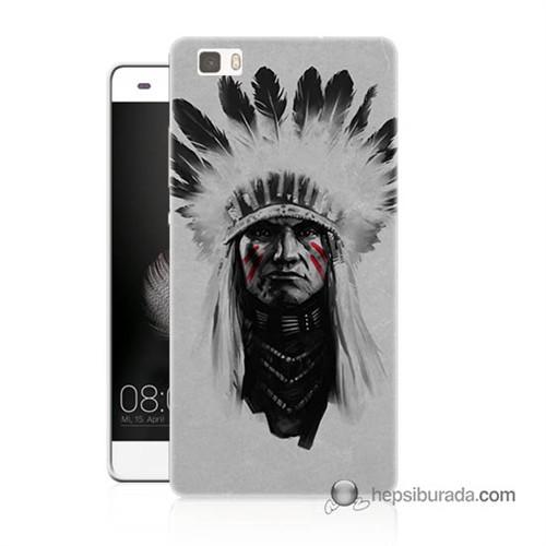 Teknomeg Huawei Ascend P8 Lite Kılıf Kapak Geronimo Baskılı Silikon