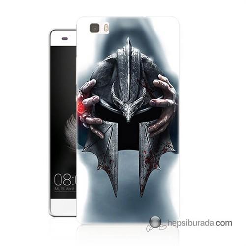 Teknomeg Huawei Ascend P8 Lite Kılıf Kapak Assassins Creed Baskılı Silikon
