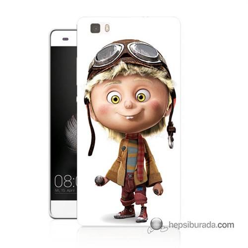 Teknomeg Huawei Ascend P8 Lite Kılıf Kapak Çizgi Karakter Baskılı Silikon
