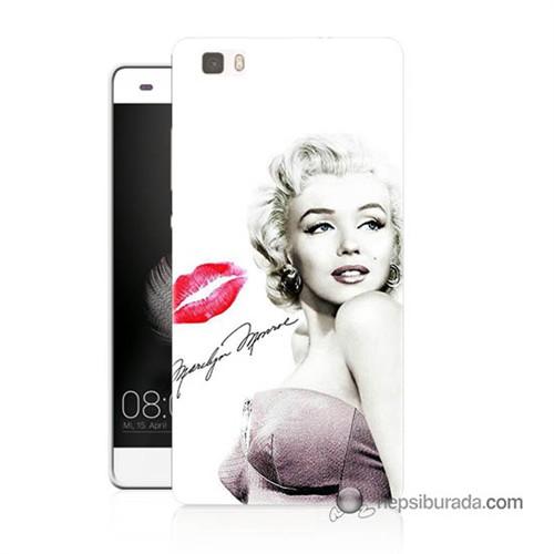 Teknomeg Huawei Ascend P8 Lite Kapak Kılıf Marilyn Monroe Baskılı Silikon