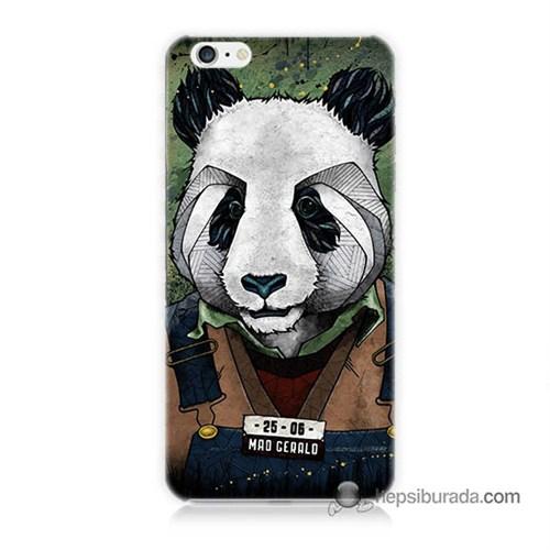 Teknomeg İphone 6S Kapak Kılıf İşçi Panda Baskılı Silikon
