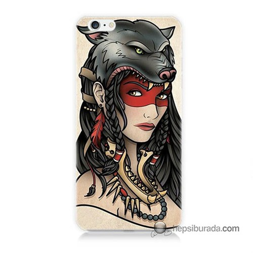 Teknomeg İphone 6S Kapak Kılıf Pocahontas Baskılı Silikon