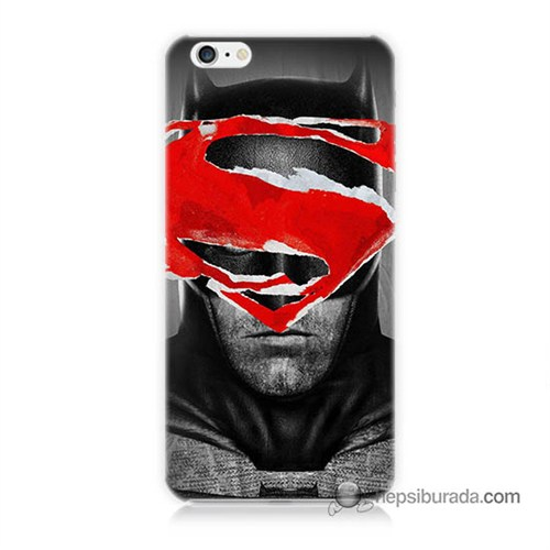 Teknomeg İphone 6S Kapak Kılıf Batman Vs Superman Baskılı Silikon