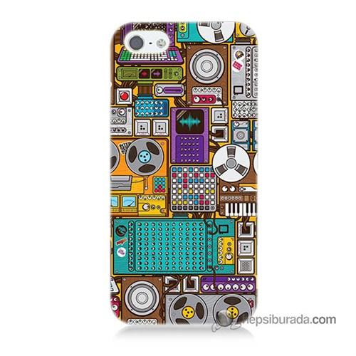 Teknomeg İphone 5S Kılıf Kapak Teknoloji Baskılı Silikon