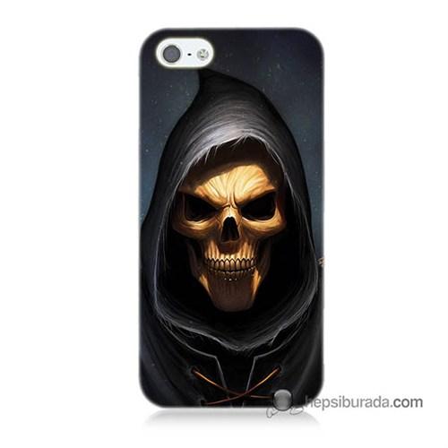 Teknomeg İphone 5S Kılıf Kapak Ölüm Meleği Baskılı Silikon