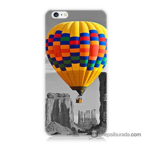 Teknomeg İphone 6 Plus Kılıf Kapak Renkli Uçan Balon Baskılı Silikon