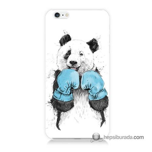 Teknomeg İphone 6 Plus Kılıf Kapak Boksör Panda Baskılı Silikon