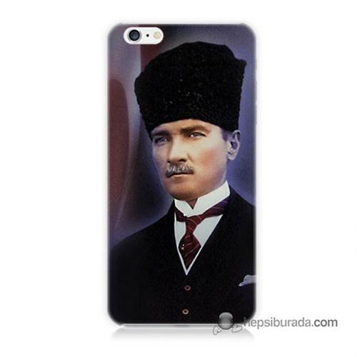 Teknomeg İphone 6 Plus Kılıf Kapak Mustafa Kemal Atatürk Baskılı Silikon