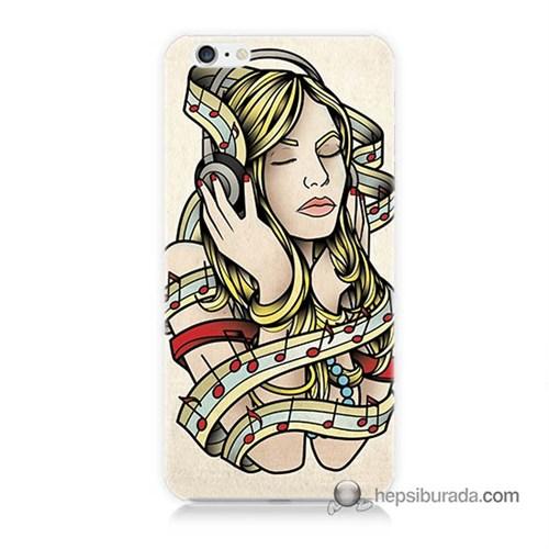 Teknomeg İphone 6 Plus Kapak Kılıf Müzik Aşkı Baskılı Silikon