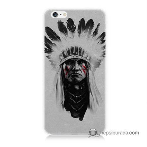 Teknomeg İphone 6 Plus Kılıf Kapak Geronimo Baskılı Silikon