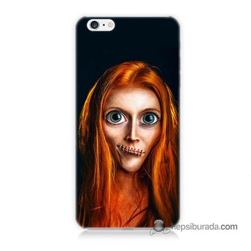 Teknomeg İphone 6 Plus Kılıf Kapak Zombie Kız Baskılı Silikon
