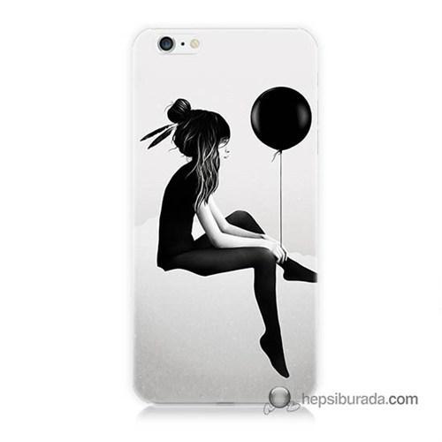 Teknomeg İphone 6S Kapak Kılıf Balonlu Kız Baskılı Silikon