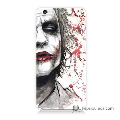 Teknomeg İphone 6S Kapak Kılıf Kanlı Joker Baskılı Silikon