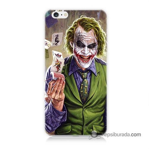 Teknomeg İphone 6 Plus Kılıf Kapak Kartlı Joker Baskılı Silikon