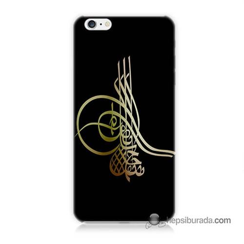 Teknomeg İphone 6 Plus Kılıf Kapak Tuğra Osmanlı Baskılı Silikon