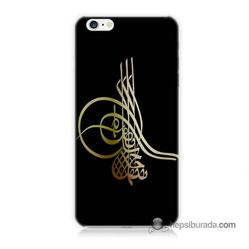 Teknomeg İphone 6S Plus Kılıf Kapak Tuğra Osmanlı Baskılı Silikon