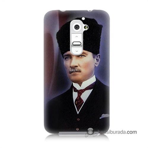 Teknomeg Lg G2 Kılıf Kapak Mustafa Kemal Atatürk Baskılı Silikon