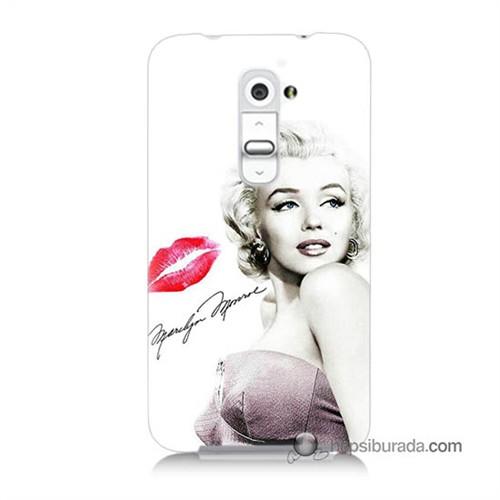 Teknomeg Lg G2 Kapak Kılıf Marilyn Monroe Baskılı Silikon