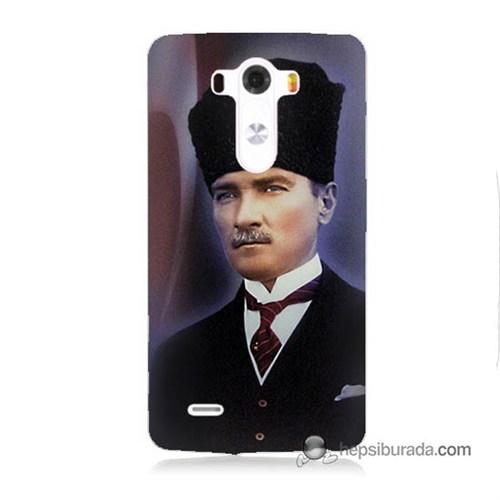 Teknomeg Lg G3 Kılıf Kapak Mustafa Kemal Atatürk Baskılı Silikon